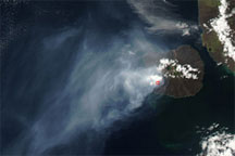 Eruption on Isla Fernandina