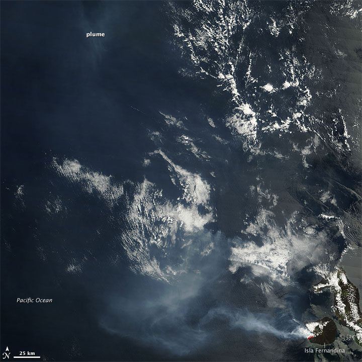Eruption on Isla Fernandina