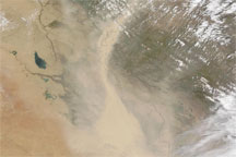 Dust Plumes over Iraq