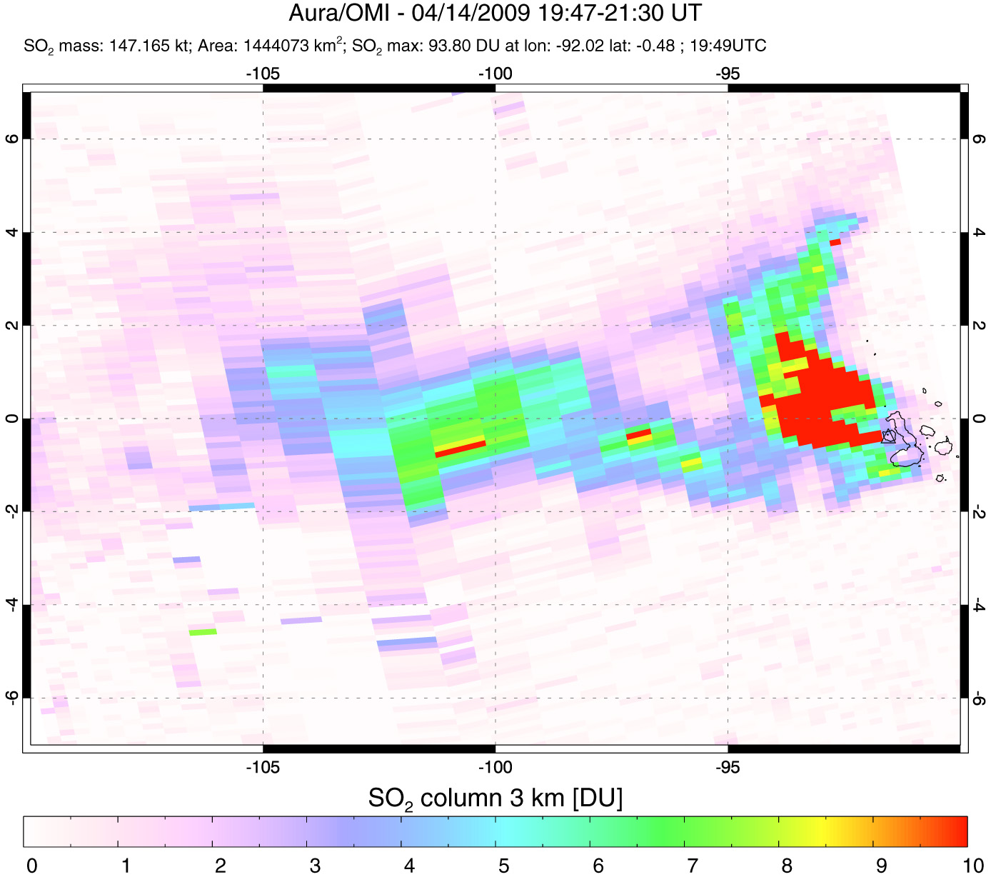 Sulfur Dioxide Plume from Isla Fernandina - related image preview