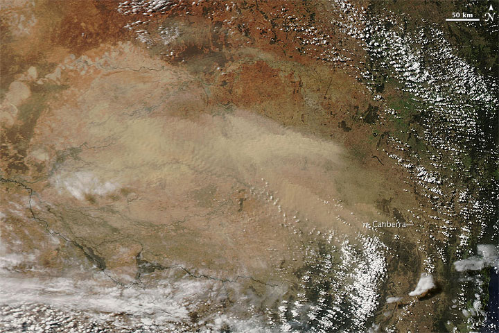Dust Storm in Southeastern Australia