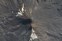 Eruption from Llaima Volcano, Chile