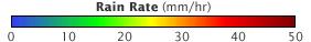 Color bar for Tropical Storm Bijli