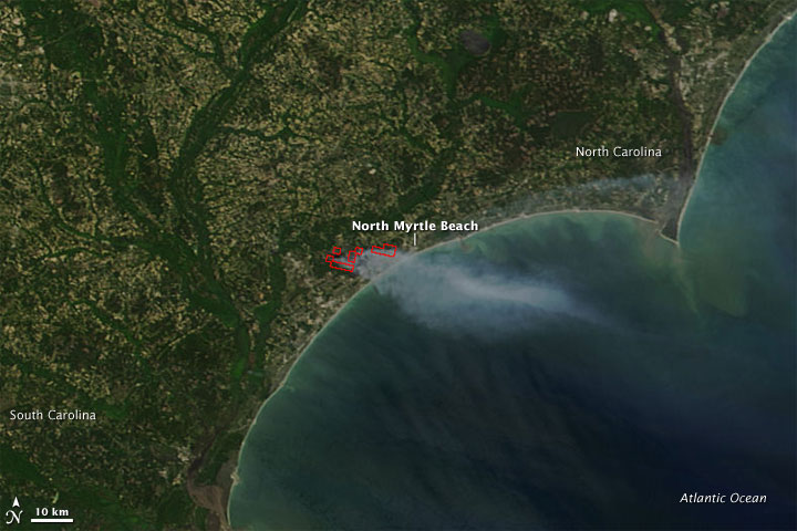 Fires along the South Carolina Coast