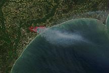Fires along the South Carolina Coast