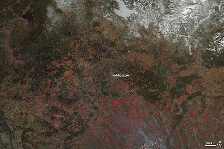Agricultural Fires in Western Russia