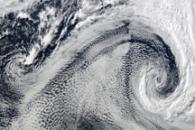 Cyclonic Clouds over the South Atlantic Ocean