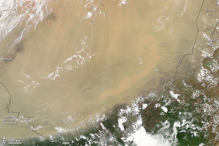 Dust Storm over Sudan