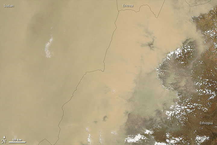 Dust Storm over Sudan and Ethiopia
