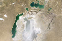 Dust Over the Aral Sea