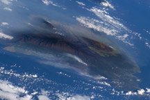 Hawaiian Vog Photographed from Space Shuttle