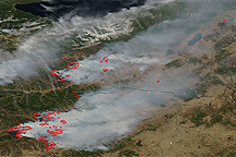 Fires in Russia and Mongolia