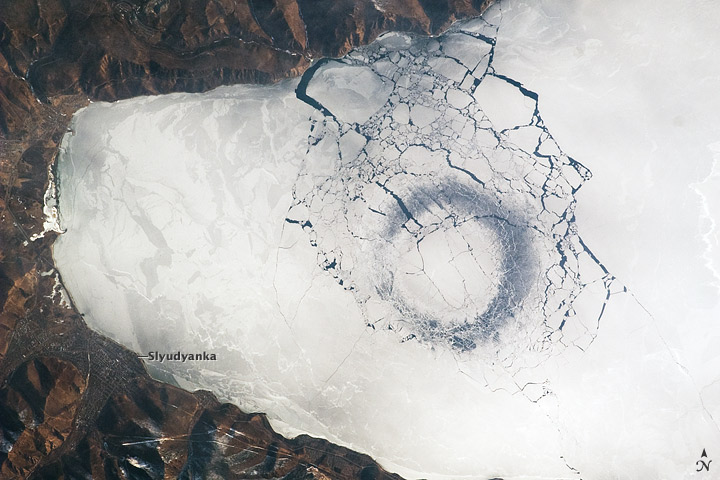 Circles in Thin Ice, Lake Baikal, Russia