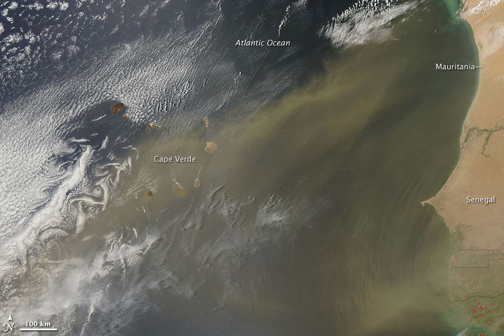 Dust over Cape Verde