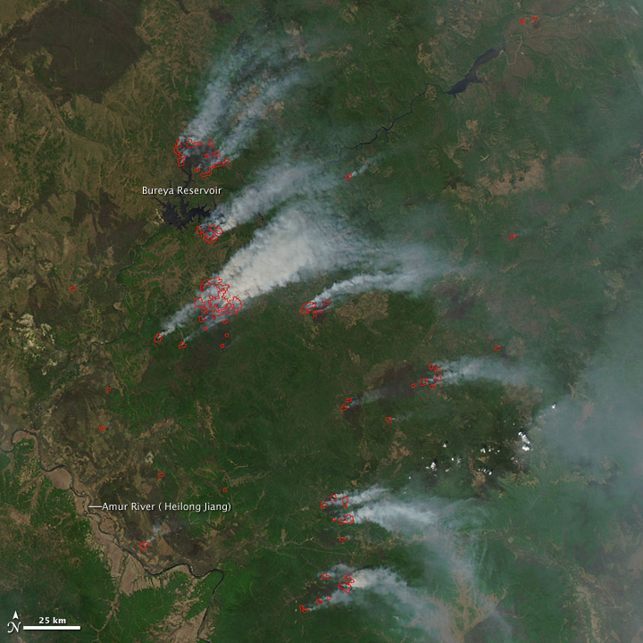 Fires in Russia's Far East