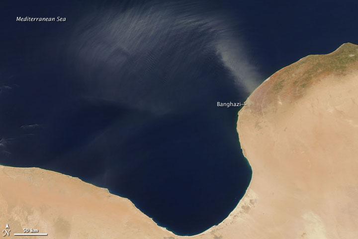 Dust Plume off the Libyan Coast