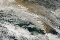 Sarychev Peak Plume Crosses Sea of Okhotsk