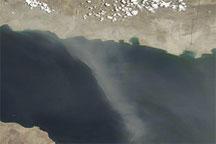 Dust Storm along the Iranian Coast