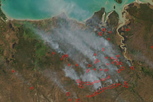 Fires in Australia's Kakadu National Park