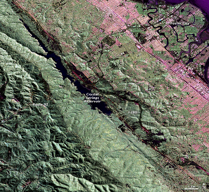NASA Radar Provides 3-D View of San Andreas Fault - related image preview