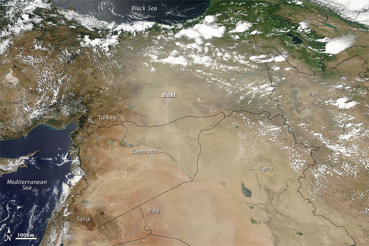 Dust Plumes over Turkey