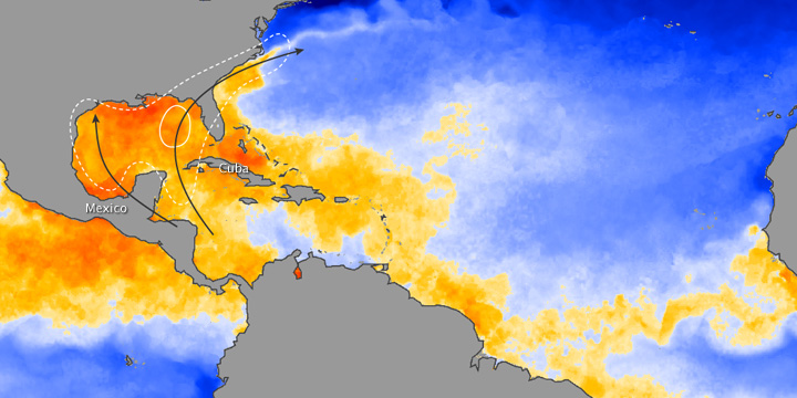 Atlantic Ocean Temperatures at End of June 2009