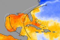Atlantic Ocean Temperatures at End of June 2009
