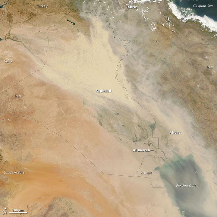 Dust Storm over Iraq