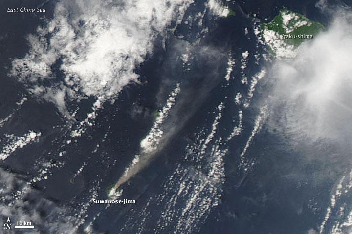 Plume from Suwanose-jima