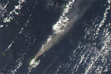Plume from Suwanose-jima