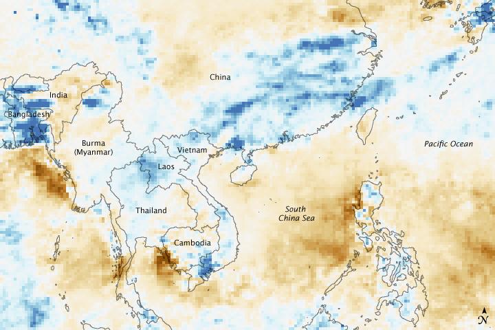 Intense Rain Floods China and Vietnam