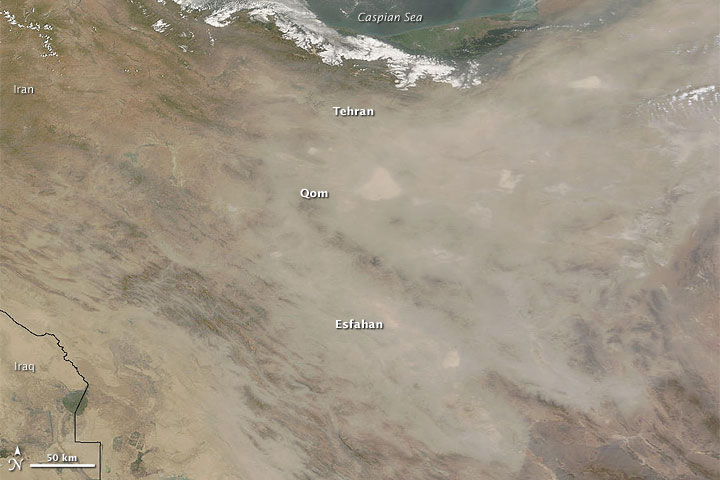 Dust Storm over Iran
