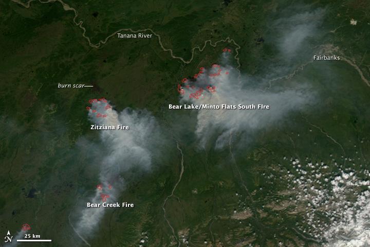 Fires in Interior Alaska