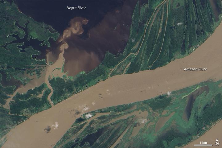 Flooding near Manaus, Brazil