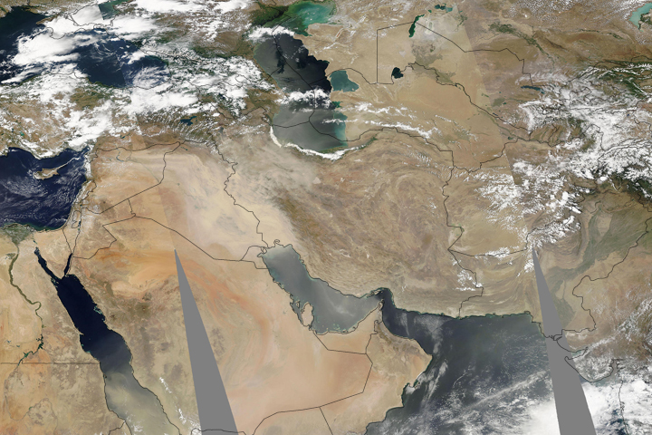 Dust Storm over Iraq and Iran