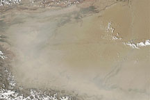 Dust Plumes in the Taklimakan Desert