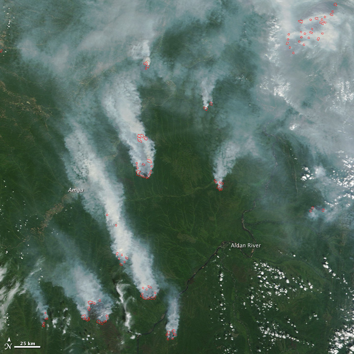 Fires Near the Aldan River, Russia - related image preview