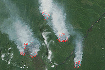 Fires Near the Aldan River, Russia