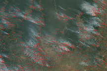 Fires in Kasai Region, Democratic Republic of Congo