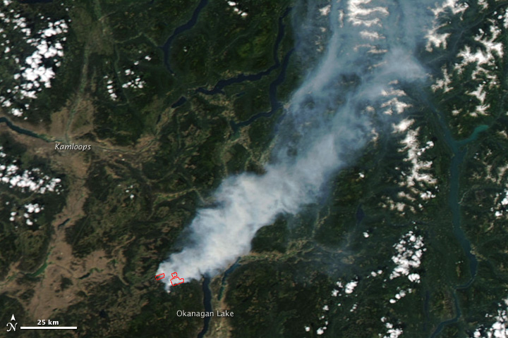 Wildfire At Okanagan Lake