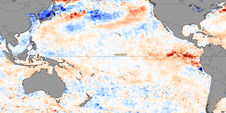 El Nino Conditions Set in Across Pacific Ocean