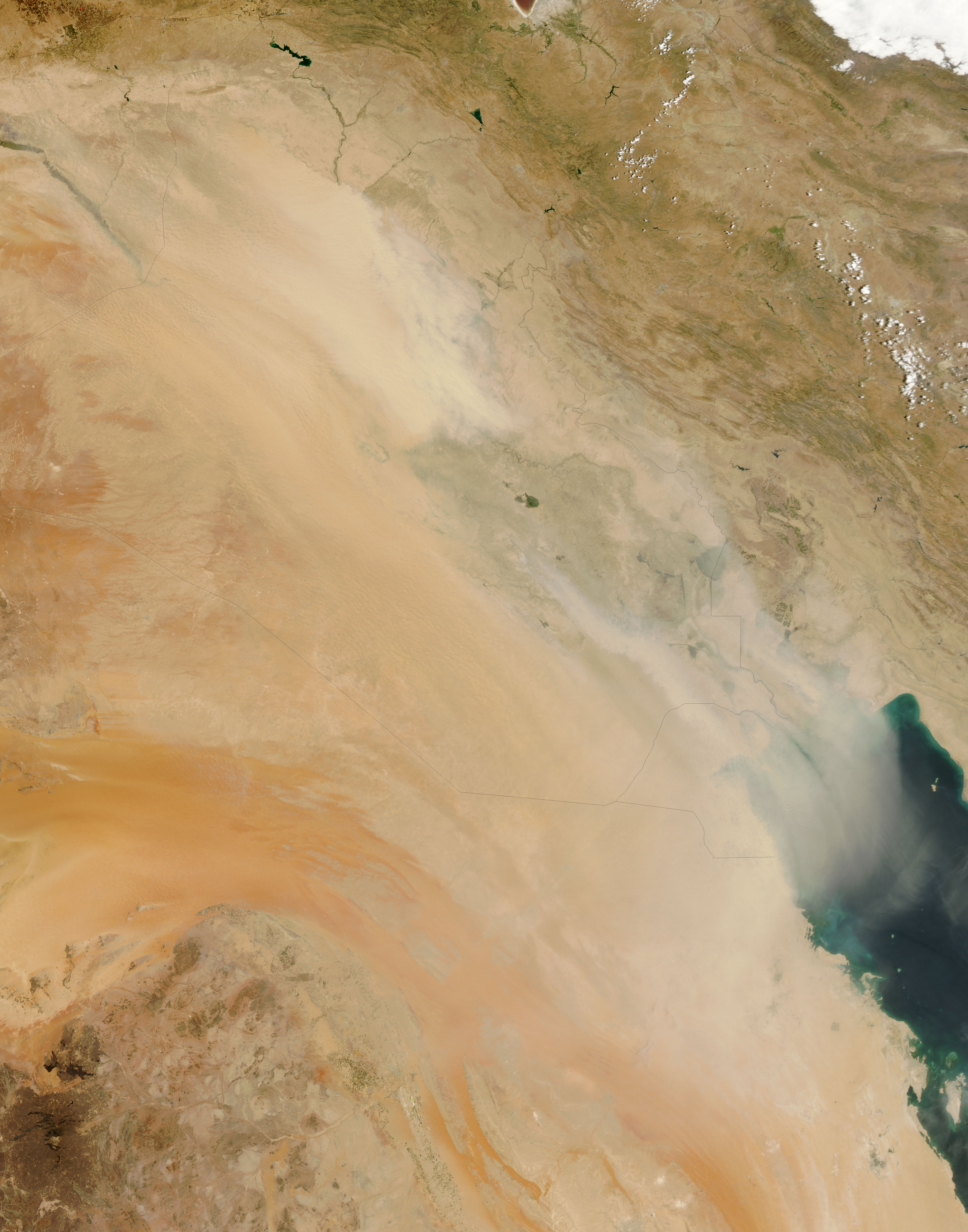 Dust Storm over Iraq - related image preview