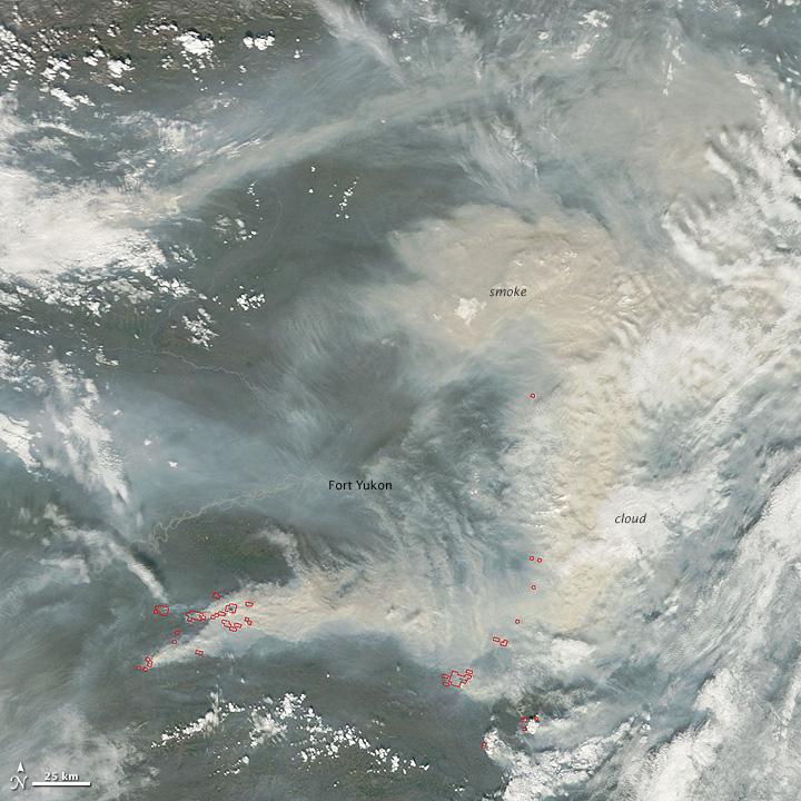 Fires in Alaska's Yukon Flats Wildlife Refuge