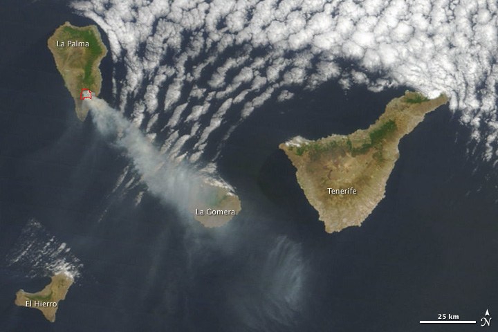 Fire on La Palma, Canary Islands