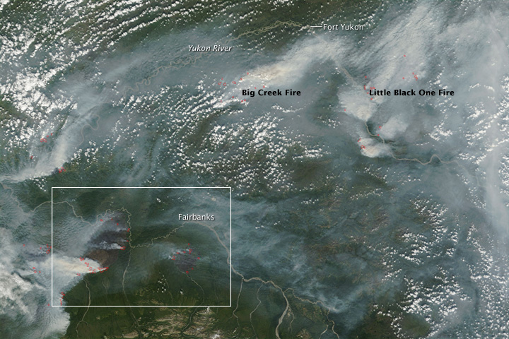 Hundreds of Thousands of Acres Burning in Interior Alaska