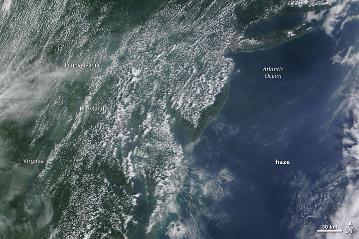 Summer Haze in the Eastern United States