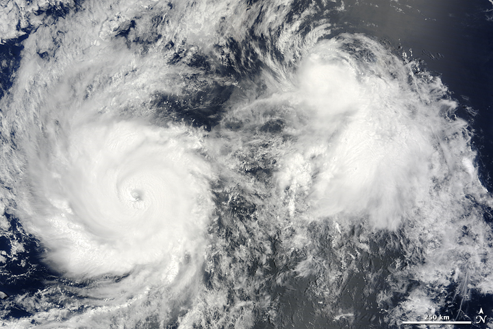 Hurricane Felicia and Tropical Storm Enrique