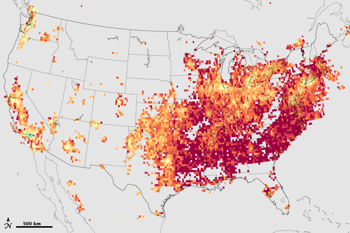 Relative Amounts of Bad Ozone Ingredients Across the U.S.