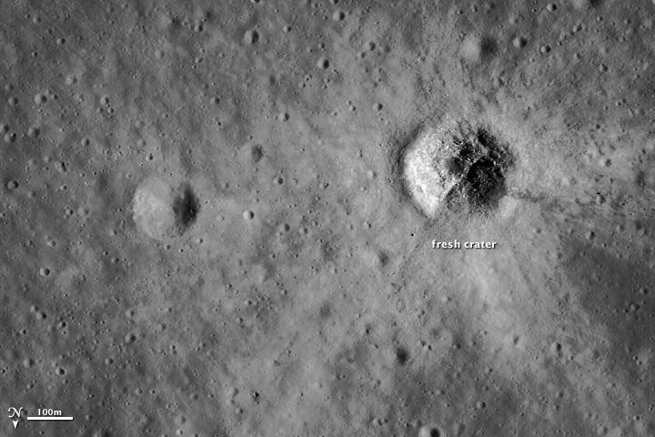 Impact Crater, Lunar Surface