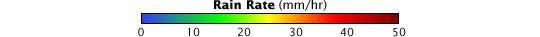 Color bar for Hurricane Bill